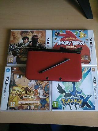 NINTENDO 3DS XL + 4 JUEGOS