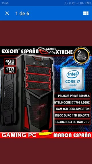 PC EQUIPO DE SOBREMESA PC GAMING INTEL CORE I7