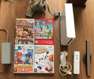 Wii + juegos.
