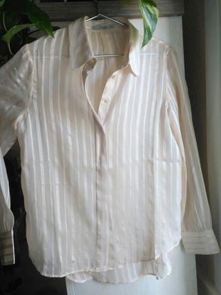 MANGO, conjunto de camisa y falda