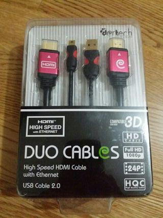 Cable HDMI de 1.5m + Cable USB de 3m