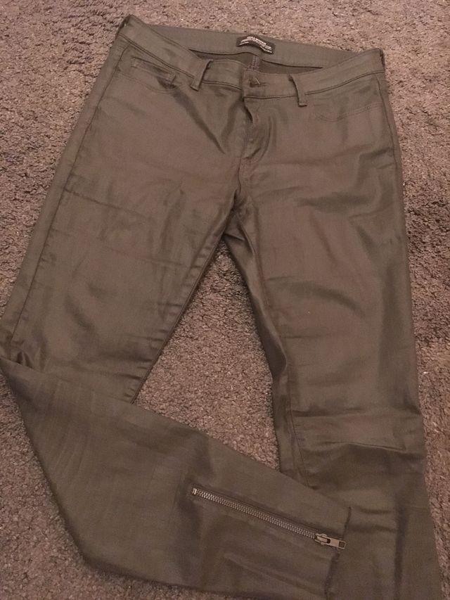 Dark green trousers