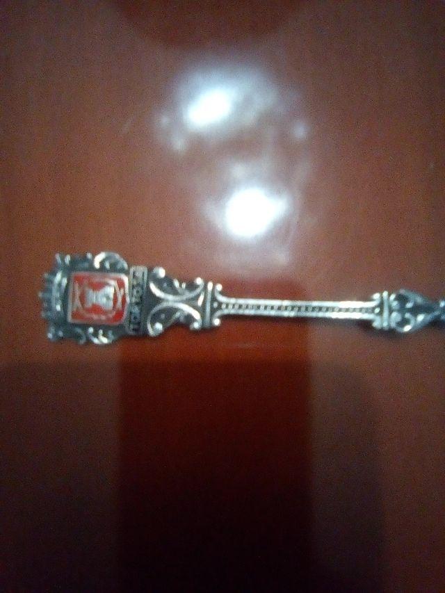 Antigua Cuchara plata de ley, Souvenir de TORTOSA