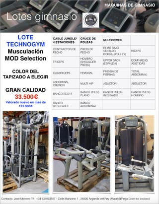 GIMNASIO TECHNOGYM SELECTION