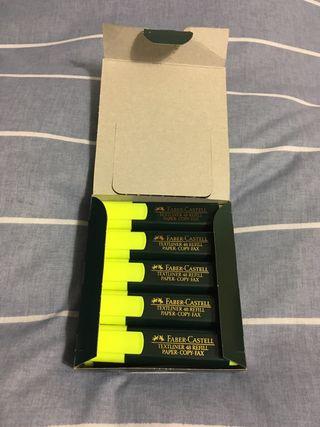 Caja de 10 marcadores flourescentes