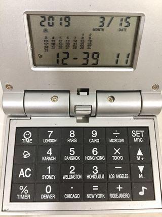 Reloj. Despertador. Calculadora (nuevo)
