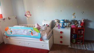 Convertible cuna - habitacion blanca infantil