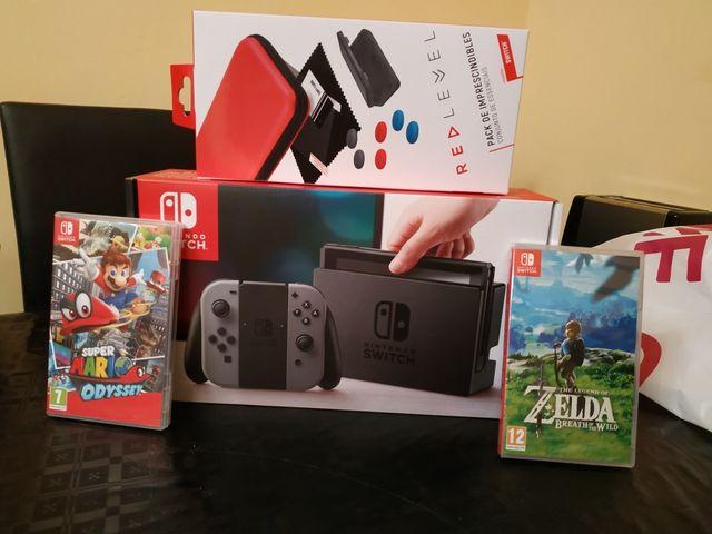 switch+ Mario odiseey+zelda+ accesorios