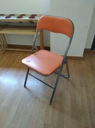 7 sillas plegables