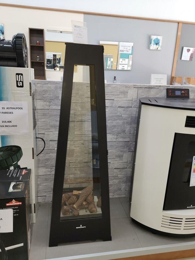 Estufa decorativa bioetanol nueva en exposición