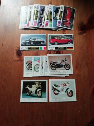 colección cromos motos y coches