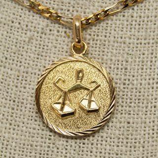 Medalla horóscopo, LIBRA, de oro de 18K