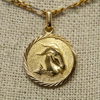 Medalla horóscopo, ARIES, de oro de 18K