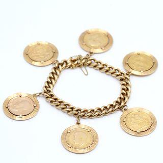 a86827466c6c Pulsera de oro con monedas de segunda mano en WALLAPOP