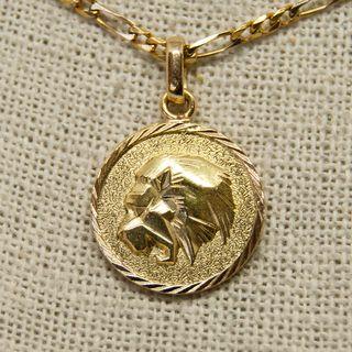 Medalla horóscopo, LEO, de oro de 18K