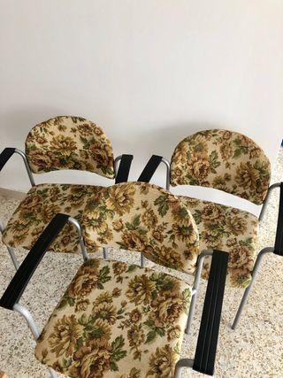 Tres sillas de oficina estilo vintage. ORIGINAL