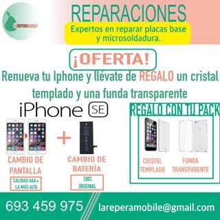Cambio pantalla iPhone 5se batería iPhone 5se