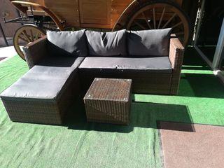 Sofá chaise longue para jardín