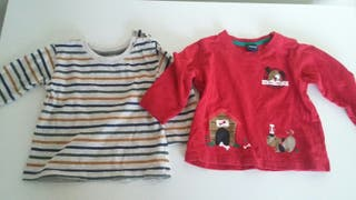 Camiseta EarlyDays y Freestyle 6-12 meses