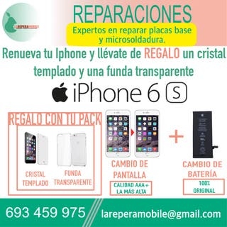 Cambio pantalla iPhone 6s cambio batería iphone 6s