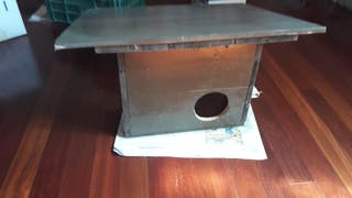 caseta de madera para gatos