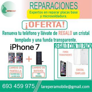 Cambio pantalla iPhone 7 batería iPhone 7