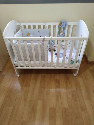 Cuna bebé 1,20 x 60 SOLO HOY 100€ TODO