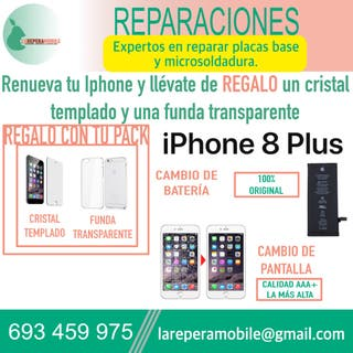 Cambio pantalla iPhone 8 Plus batería iPhone 8 plu