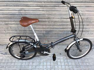 """Bici plegable aluminio de rueda 20"""" con cambio 6V."""