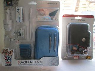 Funda accesorios 3ds azul o negra