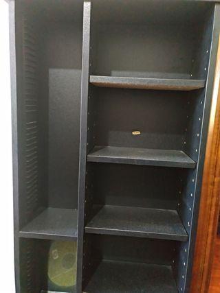 Torre mueble cd CDs negra