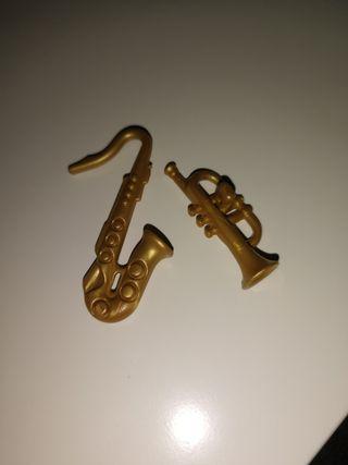 saxofón y trompeta playmobil