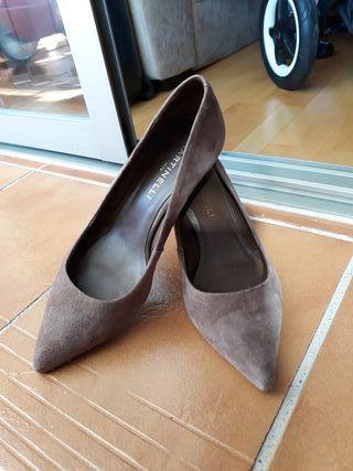 zapatos tacones bajo martinelli número 37