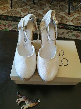 zapatos novia. Espardeña novia. Alpargata novia