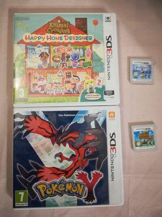 Lote de 4 Juegos Nintendo 3DS