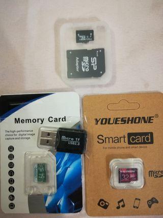 Tarjeta micro SD 32 Gb o 64Gb o 128Gb
