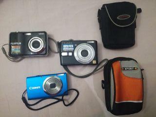 Lote de cámaras Lumix, Fujifilm, Canon