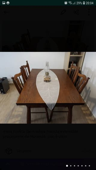 mesa comedor rustica