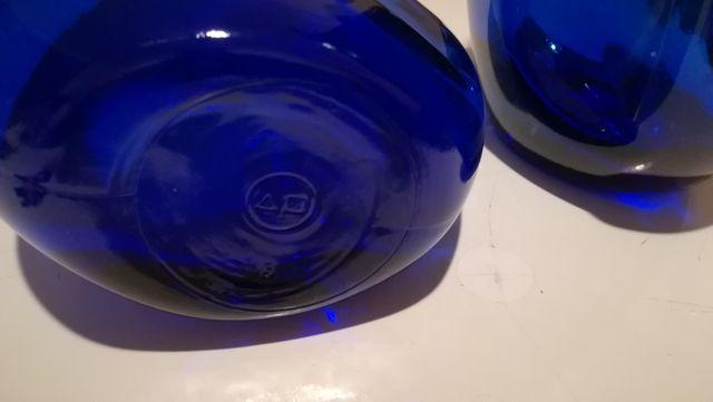 decantadores cristal azul