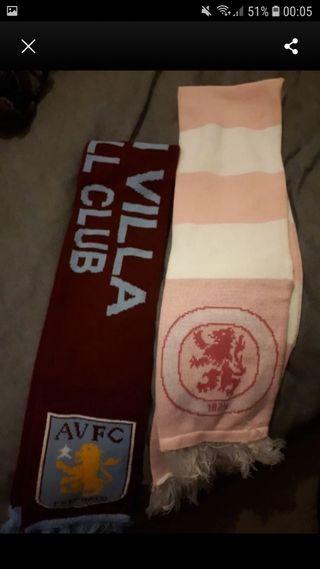 pink aston villa scarf