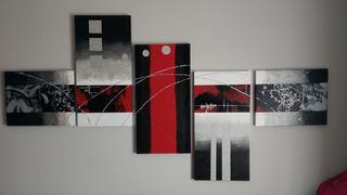Vendo composición de 5 cuadros