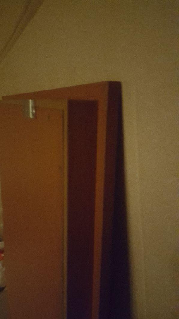 espejo recibidor marco madera cerezo 90 x 90 cm