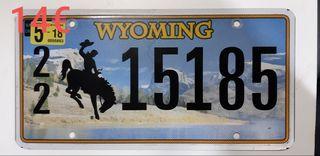 Wyoming, Matrículas Americanas