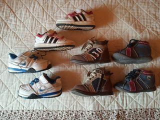 zapatillas y botas niño numero del 19 al 20
