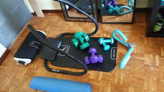 fitness. pesas. abdominales