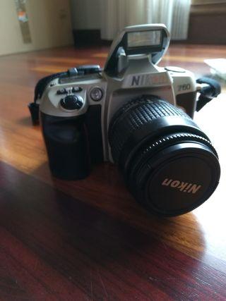 Canara réflex Nikon F60 + objetivo