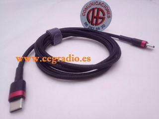 1m Baseus Cable Carga rápida Datos USB Tipo C