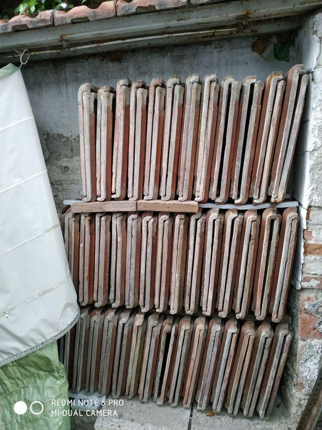 lote de tejas planas ceramicas usadas