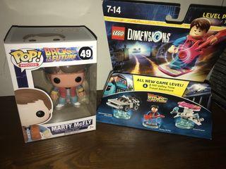 Funko pop Marty McFly lego regreso al futuro