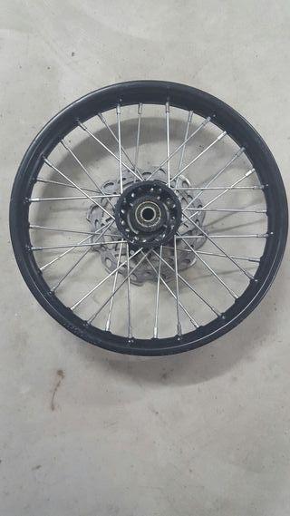 Llanta con disco pit bike
